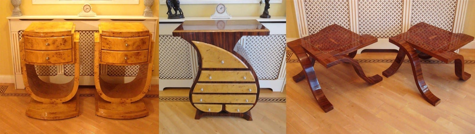 Above Is Examples Of Art Deco Style Bedside Cabinets, A Console / Hall  Table And