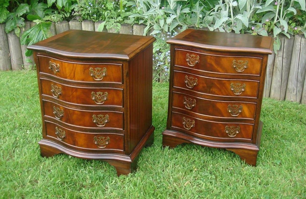 Mahogany Georgian Style Mahogany bedside tables
