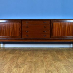 Mid Century Danish H.W. Klein for Bramin Mahogany Long Sideboard with 4 Drawers