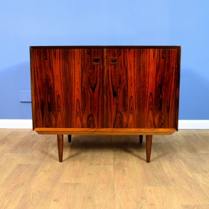 Mid Century Retro Danish Rosewood Two Door Sideboard Cabinet by Eric Brouer 70s