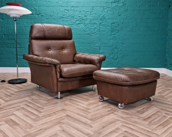 danish chair and foostool