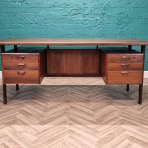 Mid Century Danish Kai Kristiansen 'FM 60' Rosewood Executive Office Desk 1960s