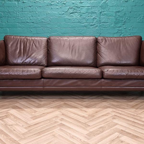 mogens hansen brown sofa